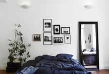 dark blue interior design
