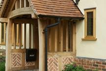 timber frame brick panels