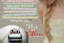 The Edge of Never / One of my favorite book written by J.A.Redmerski. i fell in love with the story and the protagonists Andrew Parrish and Camryn Benett.