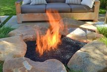 Instantly transform backyard into outdoor living. / Fire pits and chandeliers are a great way to make a back yard more inviting. They also make great focal points to design around and create an intimate social setting for you and your family/friends.