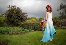 Dip Dye Wedding dresses / dip dye ombre wedding dress designs by Lucy Can't Dance for more designs take a look at our website www.lucycantdance.com