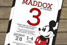 Convite De Mickey Mouse