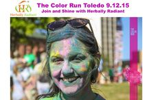 """5K Color Run/ Walk - Toledo 12 September 2015 / A unique unforgettable happy experience tantalizing your senses with music and color. Make memories with your friends. Join Herbally Radiant for The Color Run in Toledo. Herbally Radiant Organic Skin Care store has limited discount tickets $34 plus tax for our fans. Hurry before they run out. Come ready for """" pre-race party with music, dancing, warmup stretching and giveaways!"""" Check out more info at http://thecolorrun.com/toledo/"""