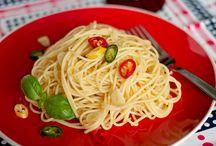 Italian Style / pasta, pasta, pasta  a czasem i krewetki, kalmary, langustynki czyli to co tygrysy lubią najbardziej ;)