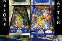 Pinball Restoration & Repairs / Before & after images of restored and/or repaired pinball machines.