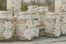 Hessian/Burlap and lace