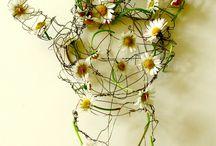 Flower Wire Sculptures