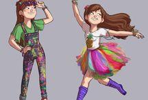 tegninger af cosplay/outfit