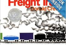book nook: Freight Train Board / for Little Wonders Preschool a lit and play based program...  math: shapes science: movement & motion continue color and rainbow transportation