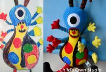 Child's Own Softies / kids drawings, stuffed toys