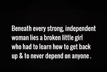 strong single woman