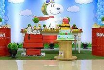 Festa Snoopy Decoração