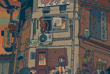 ilustración exteriores