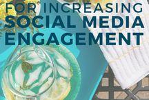 Social Media Tips / Tips for increasing social media engagement.