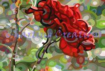 Mandy Budan / Artwork of Mandy Budan available as Cross Stitch Charts