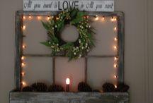 Christmas planter decor