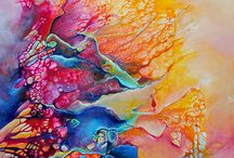 Monika Wright / Monika Wright is a self-taught artist currently based out of Nova Scotia. Her powerful and expressive abstract paintings glow with a unique luminosity.