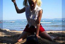 Harley Quinn Cosplay / https://www.facebook.com/MlleCleArt  http://mlle-cle-art.deviantart.com/gallery/