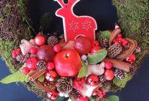 Christmas wreaths by FlodiaAtelier / Wianki świąteczne / https://www.facebook.com/FlodiaAtelier/