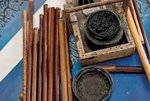 caligrafía: las herramientas