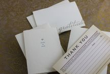 thank you oh so much / our letterpress printed boxed notes