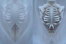 Skeletal sculpture fashion
