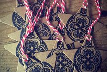 Gothic Christmas Tags / Handmade Gothic style Christmas gift tags. Hand stamped, rustic, alternative, Steampunk, tongue in cheek and of course Gothic!