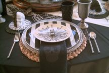 Pirate Tablescape-Table Settings / Ideas for a Pirate Theme Party