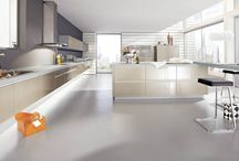 A warm alternative to white. / Variations of beige in ALNO kitchens.