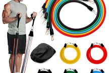 Workout Resistance Bands Set Home Exercise Yoga Fitness Stretch Heavy Duty Tubes