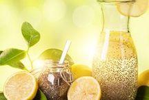 Chiawasser mit Zitrone