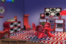 Salle a Mangé - Sims 4