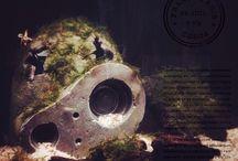 シュリンプの水槽 / シュリンプの水槽です、ジブリのロボット兵!