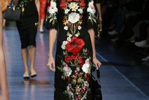 Dolce & Gabbana Summer 2016 #italiaislove Women Floral Clothes / Poppies Daisies and also Roses in the Clothes. Moreover Parade of Models with Floral Accessories.