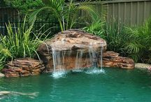 Swimming Pool water falls / Artificial Rocks that make spectacular do it yourself waterfalls for your swimming pool landscape