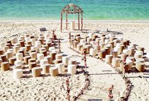 beach wedding ceremony aisle