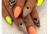 Neon nails / Wonderful neon nails with beautiful colors