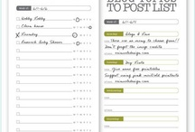 Organization & Productivity / Cleaning checklists, forms, space-saving ideas, and ways to cut clutter and maximize time and efficiency.  / by Thea F.