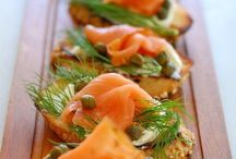 Smoked salmon,dill and caper appetizers