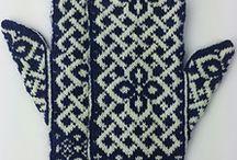 handarbete/stickat / Textil, handarbete, stickning, stickat