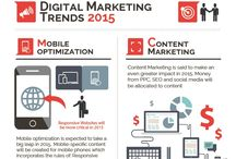 Digital Marketing Infographics / Awesome digital marketing infographics about content marketing, inbound marketing, digital marketing trends and social media marketing.