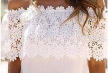 camisas blancas encaje