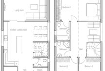 House plan on narrow space