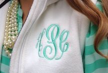 Monogrammed Clothes / Shirts, hats, shoes and even a skirt.