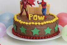 Easy Superhero Cakes / Corbin's 4th birthday inspiration