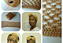 Head Wraps / Turbans / Duku / Gele / I love the art of wrapping fabric on my hair. / by Cheryl Brown .
