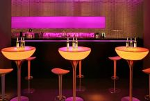 Party Furniture / A variety of striking LED seating, tables, illuminated ice buckets, cocktail tables and decorative forms to add the finishing touches to your marquee event, private party, bar or nightclub. #party #partyfurniture #eventplanning
