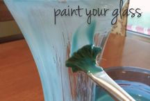 frosted glass paint & glue