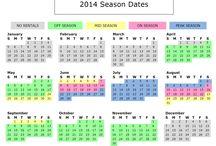 Season Dates / Topsail Realty Season Dates Calendars