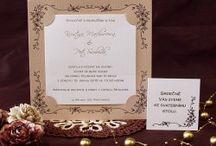 Svatební oznámení v přírodních barvách / Svatební oznámení ve stylu vintage.